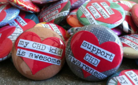 CHD Awareness buttons